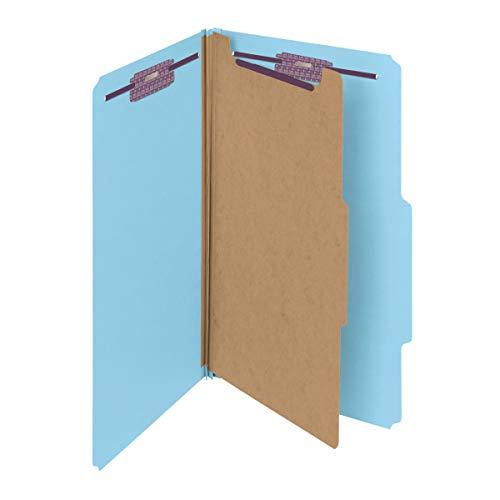 - Smead Pressboard Classification File Folder with SafeSHIELD Fasteners, 1 Divider, 2