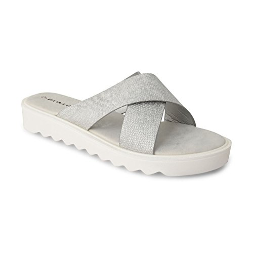 Footwear Sensation - Sandalias mujer plata