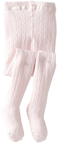Jefferies Socks Little Girls'  Cable Tight, Pink, 4-6 Years