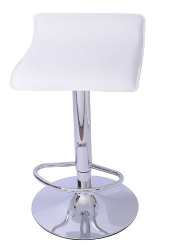 Gas Lift Swivel Stool - Mochi Furniture Adjustable Lanham Gas Lift Swivel Stool, White, Set of 2