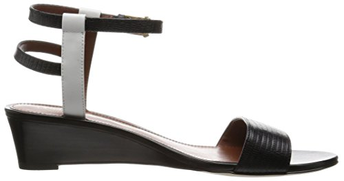 Wedge Lizard Optic Haan Leather Leather Black White Cole Wedge Black Sandal Womens Ayana Print Ayana x8xSwqX4