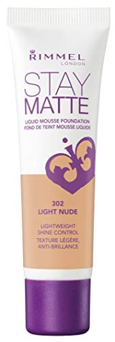 Rimmel Stay Matte Foundation, Light Nude, 1 Fluid Ounce