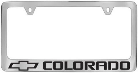 Chevrolet Colorado Black Coated Metal License Plate Frame Holder