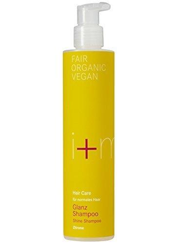 Shampoo Glanz Zitrone, Haarshampoo ohne Silikone, Haarpflege, i+m Naturkosmetik, 250ml