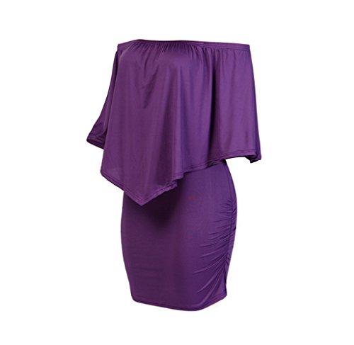 Verano CXSM Vestidos En de 2018 Mujer Palabra Ropa purple 77xrTX