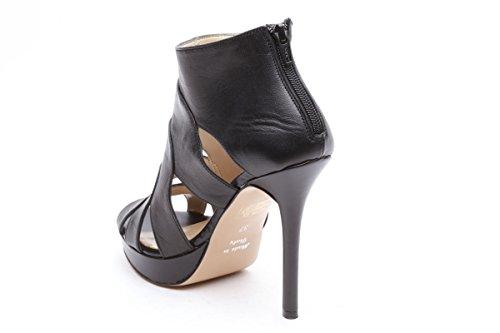 Scarpe italiane sandali tacco alto nero
