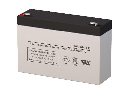 6 Volt 7 Amp Hour Sealed Lead Acid Battery Replacement with F1 Terminals by SigmasTek SP6-7