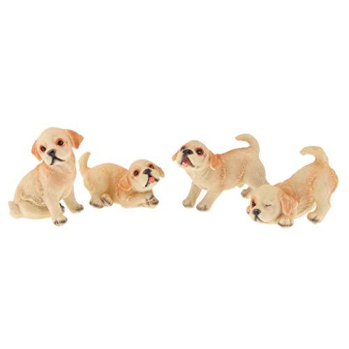 - Flameer 4 Piece Dog Garden Statue Golden Labrador Retriever Family Figurines, Lovely Resin Puppy Dog Outdoor Garden Yard Decor, Christmas Housewarming Gifts - Golden Retriever Family
