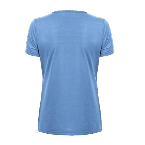 Tee Sexy shirt V Bleu Haut Casual Slim Bow Chemisier Courte T Poachers Shirts Décontractée nbsp;solide nbsp;t Manche Femme Clair En Col shirt PwtSnqARH8