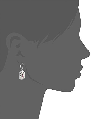 Sterling-Silver-and-14k-Yellow-Gold-and-Created-Ruby-Art-Deco-Style-with-Diamond-Accents-Drop-Earrings-012-cttw-I-J-Color-I3-Clarity