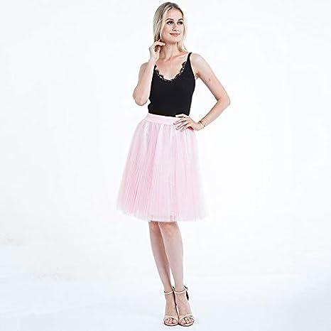 NVDKHXG Faldas de Tul para Mujer Negro Gris Blanco Adulto Falda de ...