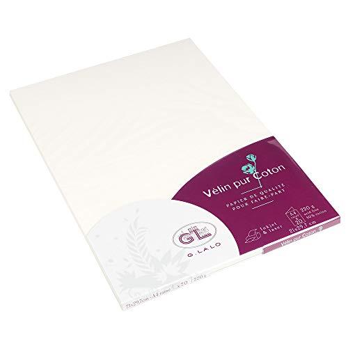 Lalo 48800L 162Straight Edge Paper DIN A4, 20Sheets Cream (Lalo Jewelry)