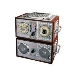 Spirit Of St. Louis Wooden Alarm Clock CD Radio by Polyconcept