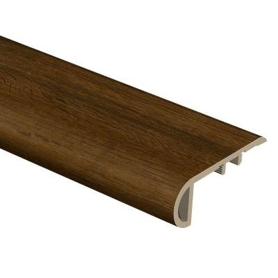 Espresso Oak 3/4 in. Thick x 2-1/8 in. Wide x 94 in. Length Vinyl Stair Nose Molding