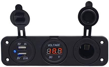 Car Socket Distributor 12V / 24V with Dual USB Port RV Yacht Boat Mobile Phone Adapter Dual Aperture for iPhone IPad, Samsung, GPS, Dashcam, Radar Detector, ...