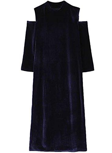 ACHICGIRL - Vestido - relaxed - manga 3/4 - para mujer azul marino