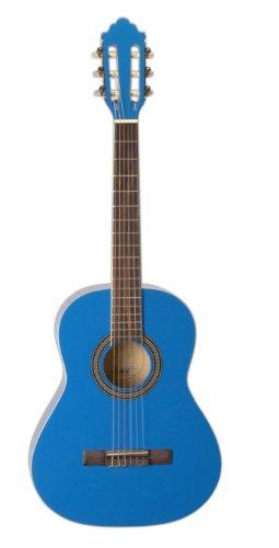 San Mateo San Mateo SCS6 BL 36-Inch Classical Guitar, Blue by San Mateo
