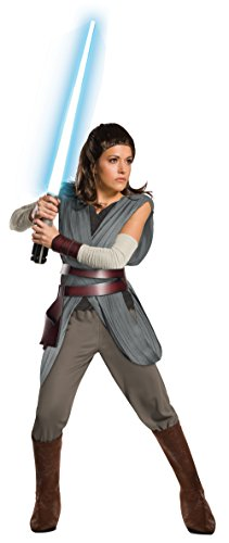 Rubie's Star Wars Episode VIII: The Last Jedi Women's Super Deluxe Rey Costume As Shown  Large]()