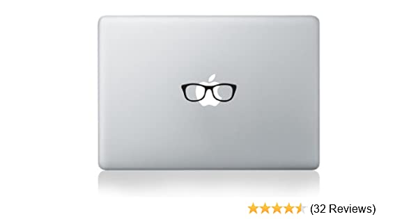 Amazon com nerd glasses vinyl decal for ipad 1 2 3 4 mini macbook air pro 13 15 17 2 pack computers accessories