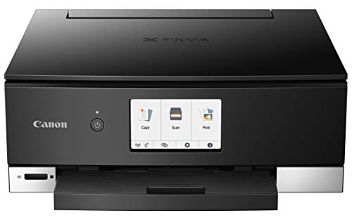 Canon TS8220 Wireless All in One Photo Printer with Scannier and Copier, Mobile Printing, Black by Canon (Image #2)