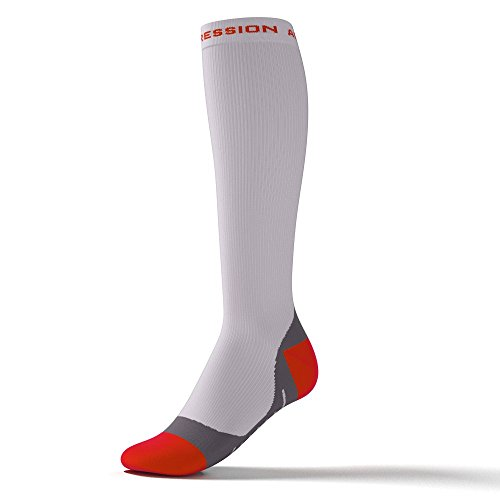 Performance Pour Marathon Compression Speed Cyclisme Triathlon socks Active Duathlon Laufsstrümpfe blanc Orange xEXqOOp