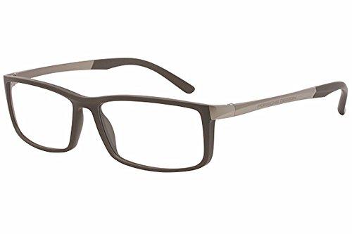 Porsche Design Men's Eyeglasses P'8228 P8228 C Gray Full Rim Optical Frame - Porsche Eye Glasses