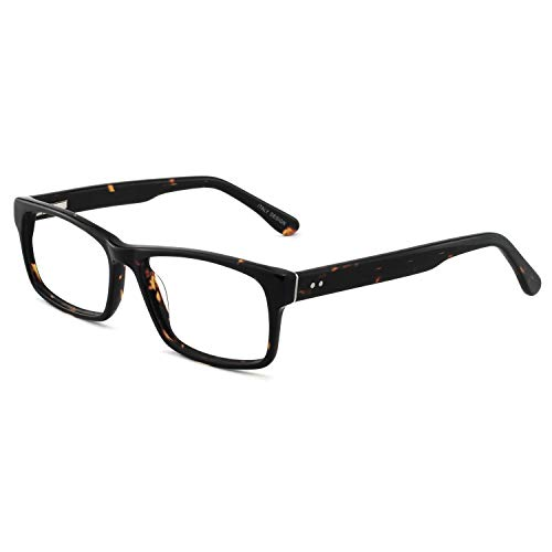 OCCI CHIARI Men Casual Full-Rim Acetate Eyeglasses Frames With Clear Lenses(Tortoise, 54)