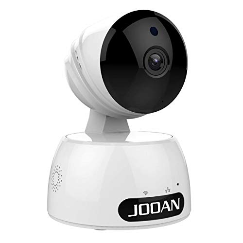 JOOAN HD1080P WiFi Security Camera with 2 Way Audio Night Vision Baby Pet Monitor for Home Surveillance- Pan/Tilt/Zoom White Camera
