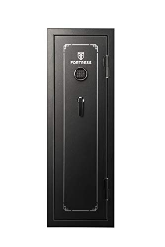 Fortress 14-Gun Fireproof Safe with Electronic Lock, Black