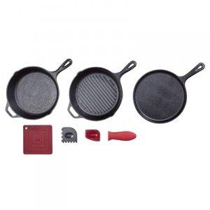 LODGE ESSENTIAL CAST IRON PAN SET (Lodge 6 Qt Dutch Oven compare prices)