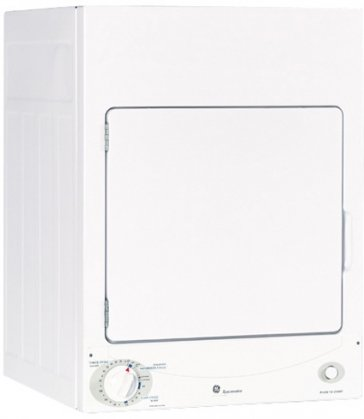 DSKS333ECWW Spacemaker 24″ Stationary White Electric Dryer With 3 Cycles 120 Volt Circuit Requirement 3 Heat Selections & 3.6 cu. ft.
