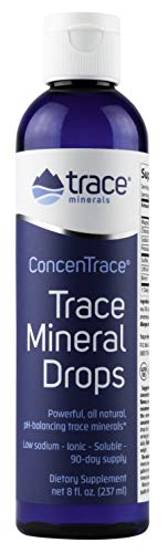 Trace Minerals Research - Concentrace Trace Mineral Drops with Liquid Essential Multi-Mineral Vitamins, Magnesium, a Natural Health Electrolyte Supplement - 8oz. No Sugar