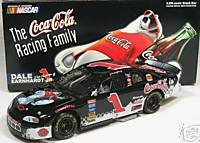 (Dale Earnhardt Jr #1 Black Coca Cola Polar Bears 1998 Monte Carlo 1/24 Scale Action Racing 1st Head to Head Race With Dale Sr Motegi Japan Hood, Trunk Open Limited Edition )