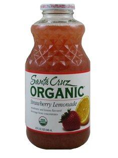 Santa Cruz Organic Strawberry Lemonade Juice, 32 Ounce - 12 per case.