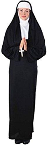 Rubie's Nun Costume (Adult) Costume(2 Pack) Standard, Black -
