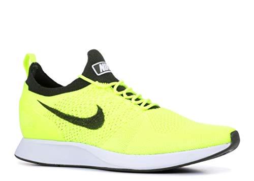 Nike Air Zoom Mariah Flyknit Racer Men's Running Sneaker, Volt/Sequoia-White, 13 D(M) US