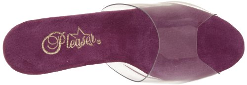 Pleaser Stardust-701 - Sandalias de cuña Mujer - Clr/Purple Chrome