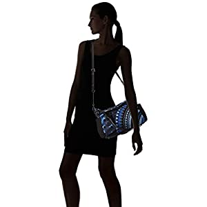 Desigual BLUE FRIEND LOVERTY Borsette femmes Nero/Blu Borse a mano