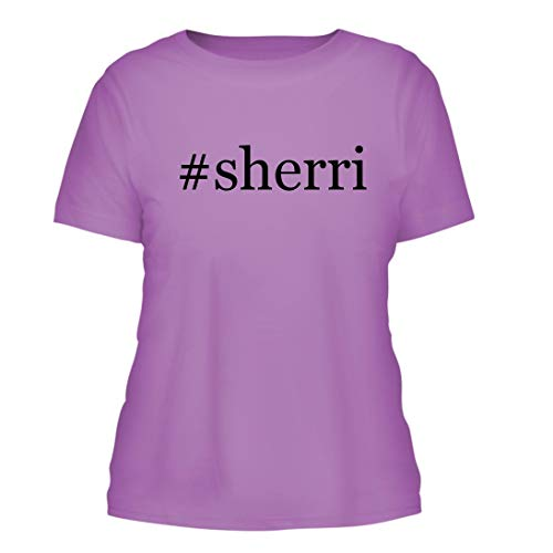 - #Sherri - A Nice Hashtag Misses Cut Women's Short Sleeve T-Shirt, Lavender, Large
