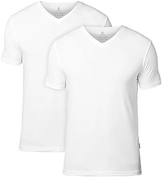 Lapasa Mens 2-Pk Undershirts Micro Modal V Neck T-Shirts