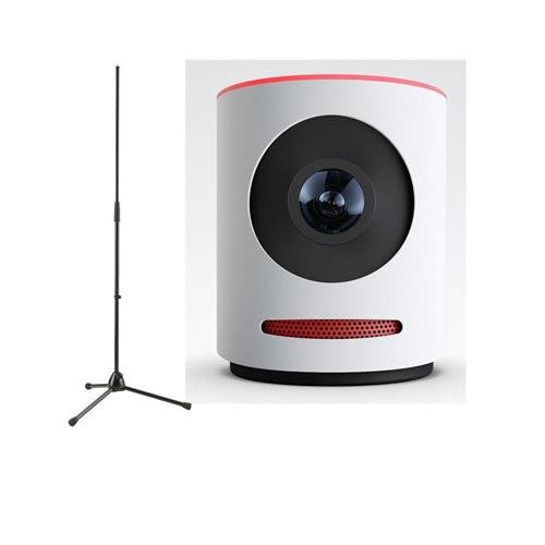 Mevo Live Event Camera by Livestream, White - With K&M 20170-500-55 Microphone Stand