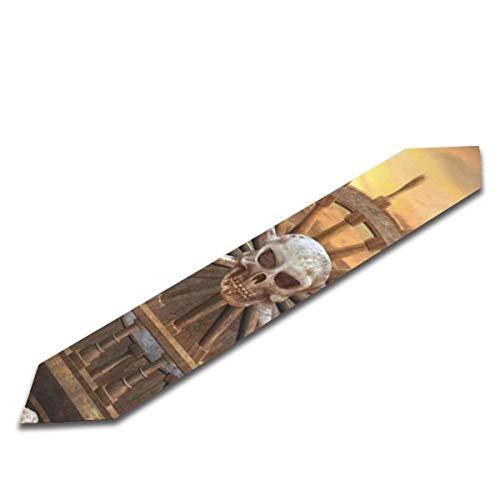 Camino de mesa 3d Pirata Volante Con Calaveras Cordoba Bufandas para Comedor 33 x 90 pulgadas