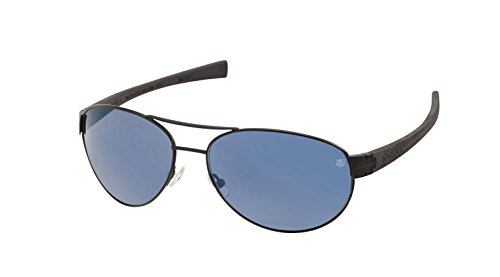 TAG Heuer Sunglasses LRS Automatic 0253 401 Matte Black Poarized Blue - Sunglasses Heuer Automatic Tag