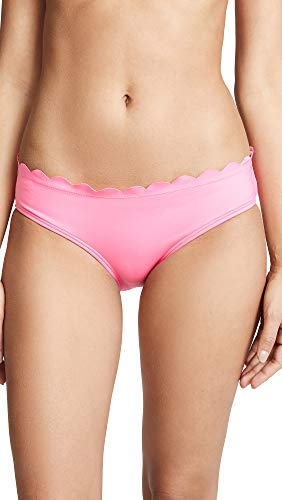 (Kate Spade New York Women's Scalloped Bikini Bottoms, Meadow Pink, Large)