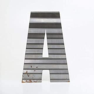 "product image for Surf To Summit Custom Corrugated Metal Letters Home Decor Wall Art A-Z 0-9 Personalized Rustic Plasma Cut Steel Initials (24"")"