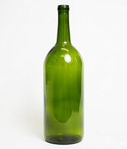 Chicago Brew Werks  1.5 Liter Green Magnum Claret Wine Bottles (Pack of 6)