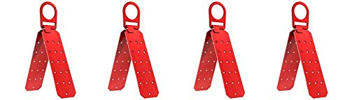 Fall Protection V8229100 Industrial/Construction Reusable Roof Anchor Bracket, Hinged, OSHA/ANSI Compliant, Temporary, Red (Anchor Screws Sold Seperately) (4-(Pack))