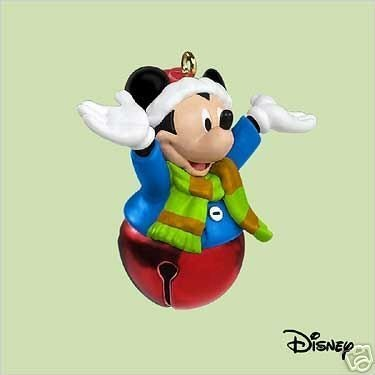 2004 Hallmark Keepsake Miniature Ornament Mickey Mouse Welcome Sound (Mickey Welcome Bell)