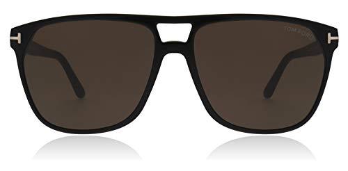 Tom Ford FT0679 01E Shiny Black Shelton Square Sunglasses Lens Category 3 ()