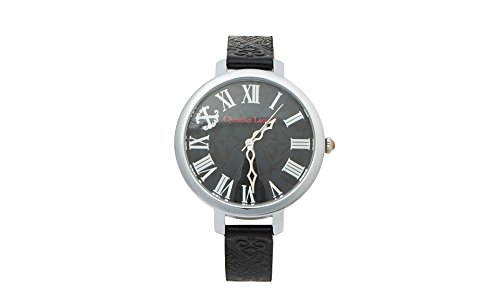 Clearance Sale Christian Lacroix 8009002 Analog Dial Lady Leather belt embossed Watch (Embossed Dial Watch)